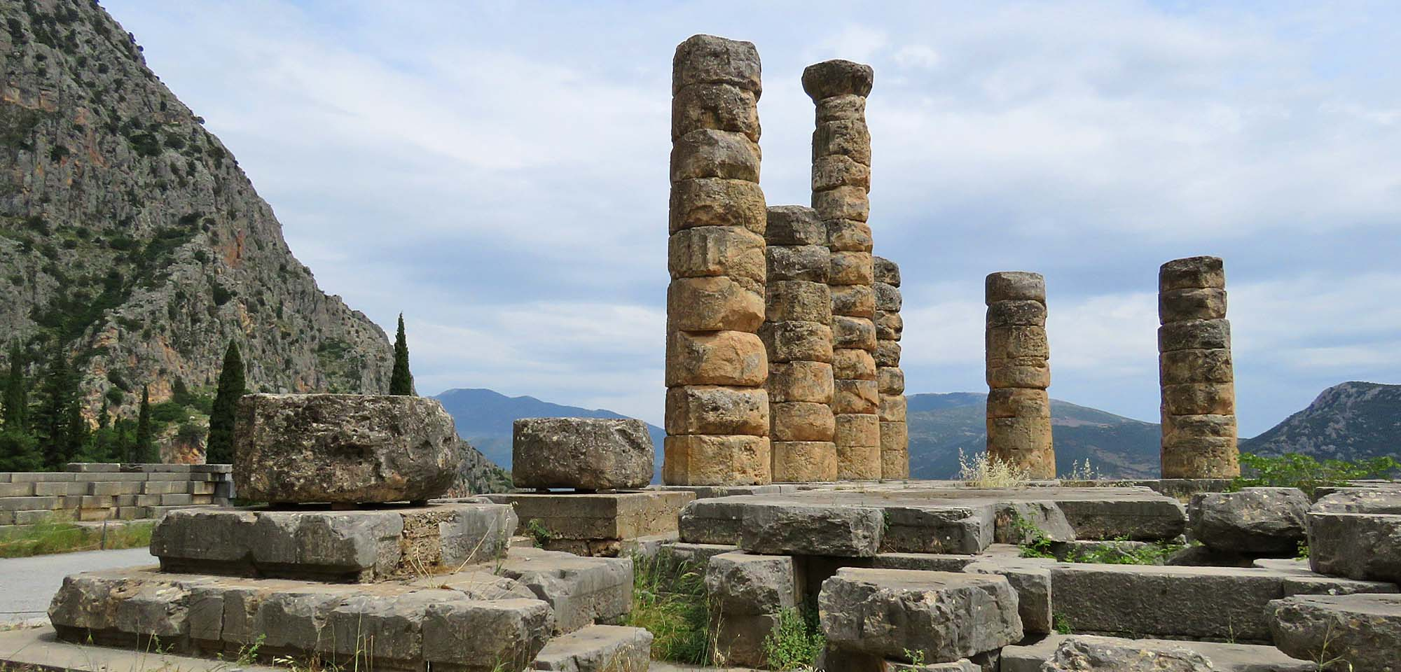 Delphi columns Field Guides Birding Tours Greece